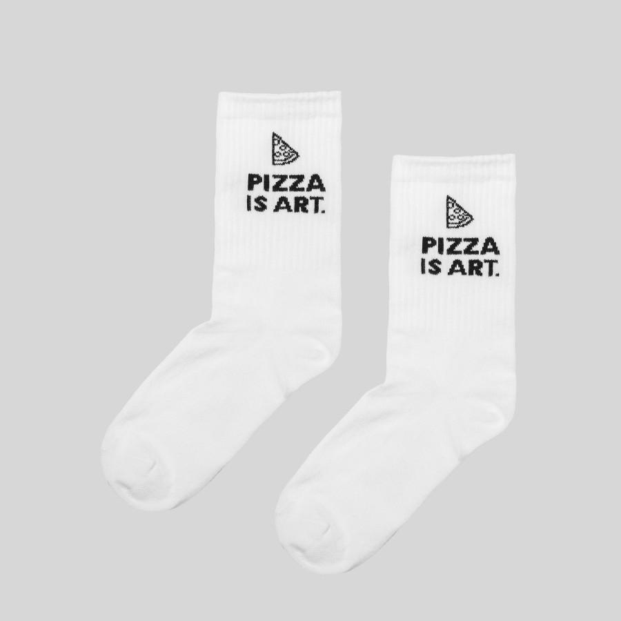Kojinės PIZZA ART, baltos
